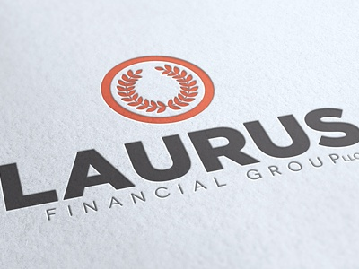 Laurus Financial Group logo branding identity bold financial gotham ambient media