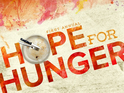 Poster Design non-profit watercolor hunger food drive ambient media poster