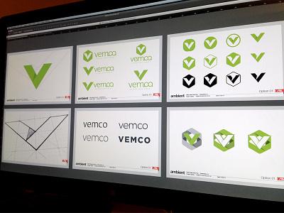 Logo Marks   Vemco branding identity logo v industrial ambient media