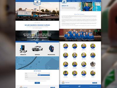 Maverick Welding Website website web layout bootstrap responsive welding retail industrial oregon ambient media