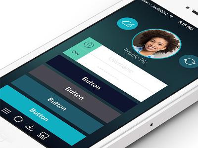 Nighttime UI Kit ui iphone ios app night icons