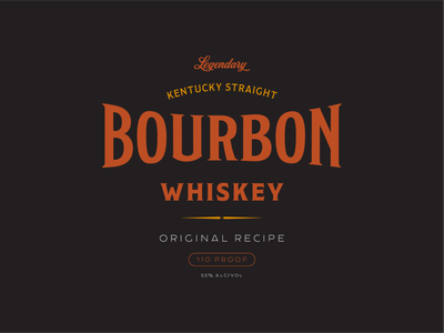 Bourbon whiskey bourbon label badge typogaphy