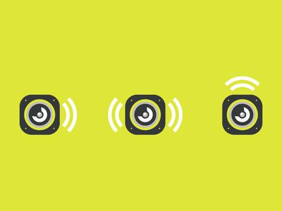 Logomarks subwoofer speaker audio logo branding identity logo mark ambient ambient media