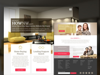 HOWNW website home page ambient real estate realtor mortgage