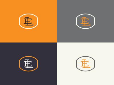 Monogram monogram branding logo e l badge graphic design