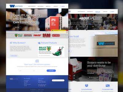 Scotsco Website web design ui ux marketing industrial bootstrap website