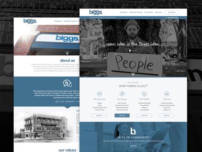 Biggs Insurance Website homepage website bootstrap branding insurance marketing ux ui web design