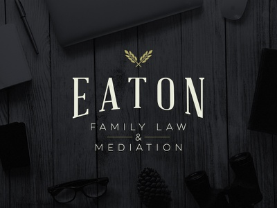 Branding | Eaton Family Law ambient attorney lawyer law legal identity branding logo