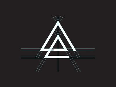 Anatomy of a logo mark triangle arrows logomark logo identity branding