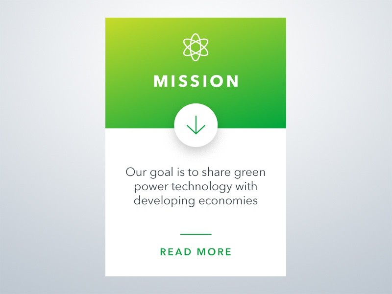 Greenpotech - UI Elements web design mission icons user interface ux ui