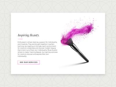 Muse Beauty - UI mua hair salon makeup artist branding web design user interface ux ui