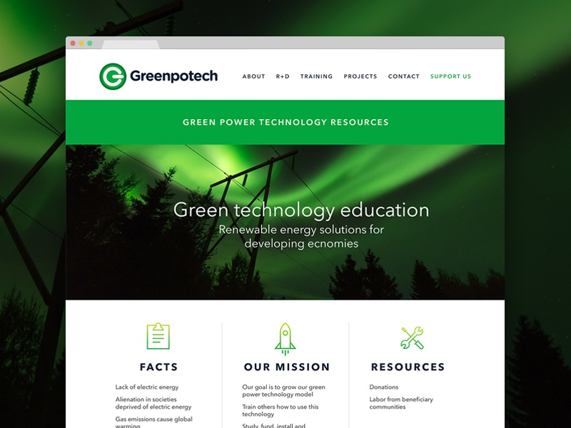 Greenpotech - Home Page web design home page renewable energy user interface ux ui