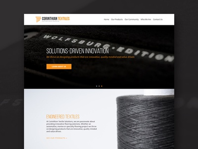 Corinthian -  Homepage web design clean automotive marine products icons user interface ux ui