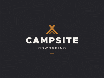 Campsite Branding brand coworking space campfire camp coworking typography logomark logo identity branding