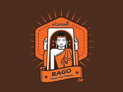 BAGO ( Kyaik Pun Pagoda ) myanmar mmcitybadgedesign dribbblerebound dribbble