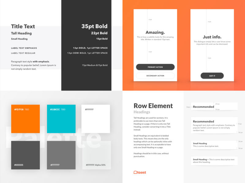 Style Guide pdf design branding typography ux ui style guide