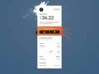 Digital Receipt - Dribbble Debut