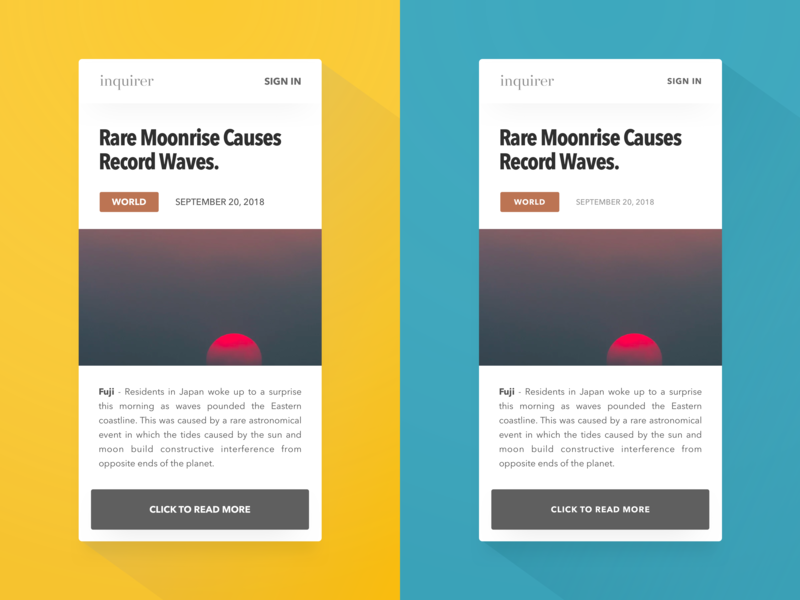 Use Capitals Without Being Shouty before and after news app balance typography ux ui