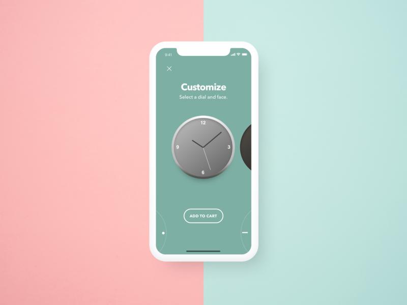 Clock Customization Interface clean iphone x customization clock interaction design ux ui