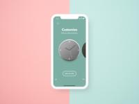 Clock Customization Interface