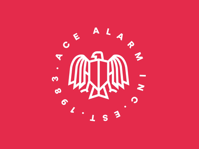 Ace seal eagle security emblem mark identity corporate identity brand identity brand branding logo