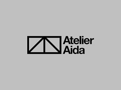 Atelier Aida Branding aida uk london architecture black and white corporate identity identity emblem mark logo branding brand