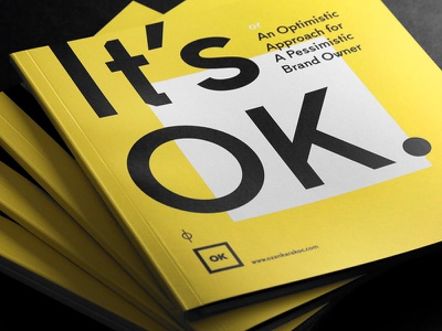 It's OK selfpromotion studio logo branding brand booklet book