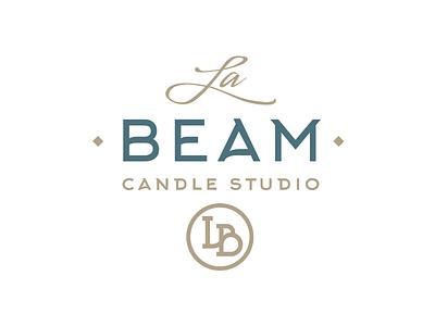 La Beam los angeles candles packaging corporate identity identity emblem mark logo branding brand