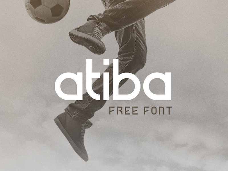 Atiba Free Font symmetric geometric typeface atiba typography free font