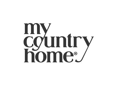 My Country Home Logo Design logotype branding brand identity logo