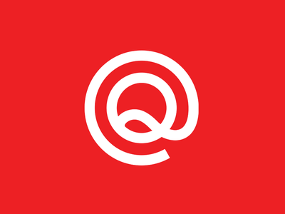 QS Monitor q red identity corporate identity brand identity emblem mark brand typography branding logo