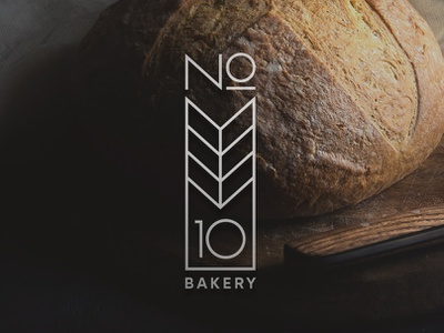 No 10 Bakery restaurant cafe food bakery poster emblem logo corporate identity brand identity branding