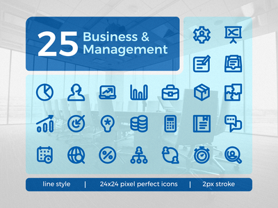 Business & Management Icon Set