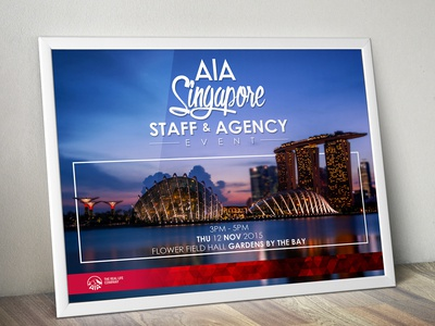 AIA Singapore Staff & Agency Event Poster