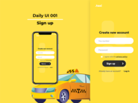 Daily UI 001 - Sign up | Taxi app