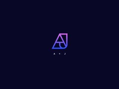 Concept Logomark AJ vector identity minimal logo graphic design design