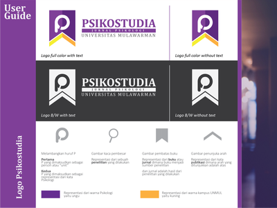 Logo Psikostudia flat graphic design illustration logo branding design