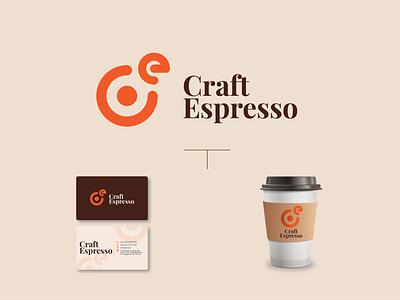 Craft Espresso logo type vector minimal illustrator identity illustration logo branding layout graphic design design