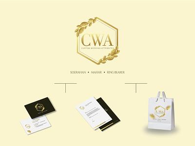 CWA identity minimal illustrator illustration logo branding layout graphic design design