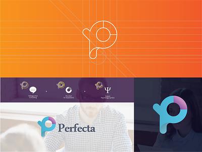 Logo Perfecta #3 icon character brand typography art vector type web minimal illustrator identity flat logo illustration branding layout graphic design design