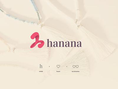 hanana Logo (unused) icon character brand type art vector flat minimal illustrator identity layout logo illustration graphic design design branding