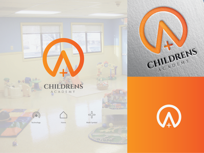 A+ Childrens Academy Logo icon character brand type art vector flat minimal illustrator identity layout illustration logo graphic design design branding