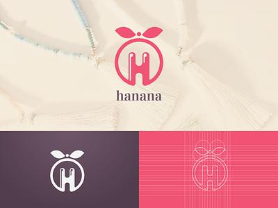 hanana Logo (approved logo design) character brand art vector flat minimal illustrator identity layout illustration logo graphic design design branding
