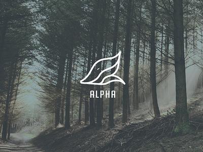 Alpha Logo (unused) flat minimal illustrator illustration identity layout logo graphic design design branding