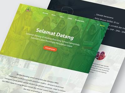Madina Boarding School Web Design typography ux minimal ui graphic design design