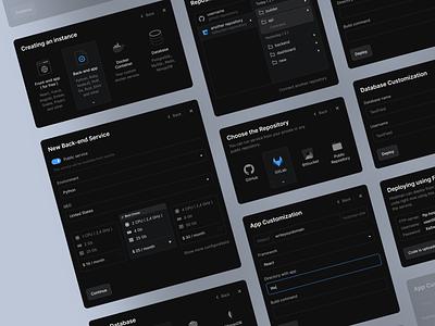 Hostman - UI Elements web design dashboard product design web application hosting black designer managment service minimal app shot dribbble design web ux ui