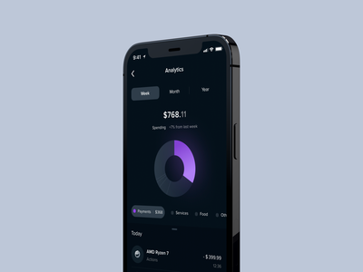 Banking App tabbar fintech money dark graphic financial app finance app dashboard shot design designer web mobile ux ui card transfer finance bank banking app