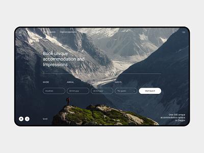 AirBNB typography shot freelance concept webdesign web design ux ui designer