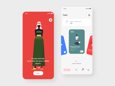 Tasks App shot app illustration icon freelance dribbble concept webdesign web ux ui designer design
