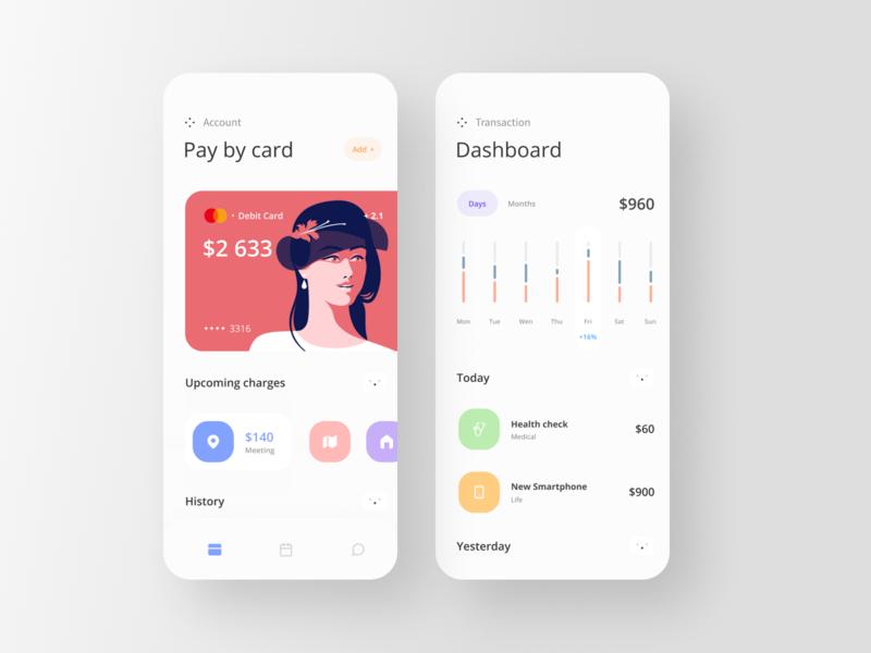 Banking App commerce banking fintech vector minimal app website icon shot dribbble webdesign illustration web ui ux freelance designer design concept